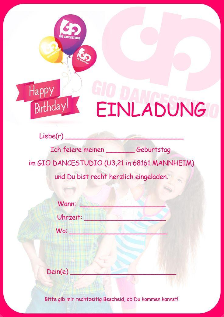 Einladungskarten Geburtstag : Einladungskarten Geburtstag Kostenlos  Erstellen   Einladung Zum Geburtstag   Einladung Zum Geburtstag