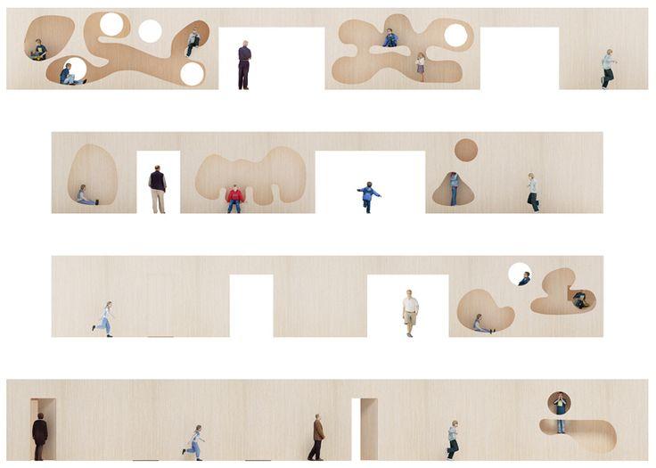 sports hall elevations | school in knokk-heist | NL architects Belgium