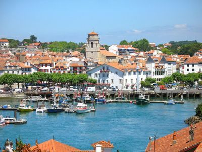 "saint-jean-de-luz, france According to the Telegraph: ""Behind a storybook bay, rocky headlands, glorious sweep of beach, the little town has echoes of Biarritz's Belle Epoque seaside glamour...."" Sounds wonderful!"