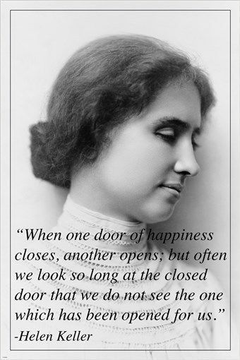 HELEN KELLER inspirational quote poster DEAF BLIND AUTHOR 24X36 motivating