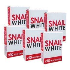 Snail White Soap x10 Whitening สบู่หอยทากฟอกผิว 70 g. (6 ก้อน)