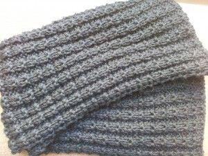 Bufanda negra para hombre