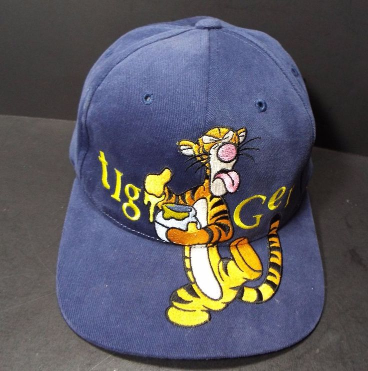 Vintage Disney Winnie the Pooh Tigger Tiger Adjustable Baseball Cap Goofy's Hat  #Disney #BaseballCap