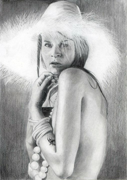 Women Pencil on paper  #artwork #art #seni #realist