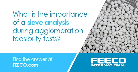 A sieve analysis measures particle size distribution, and more specifically, what percentage of on-size, over-size and under-size pellets are produced from the agglomeration process. #sieve #agglomeration #pellets #agglomerates #materialtesting