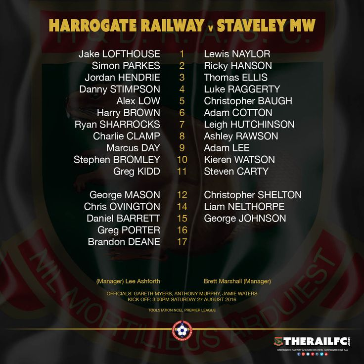 The teams for today's game at Station View    @therailfc @StaveleyMWFC @EdWhite2507