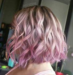 pastel pink ombre bob