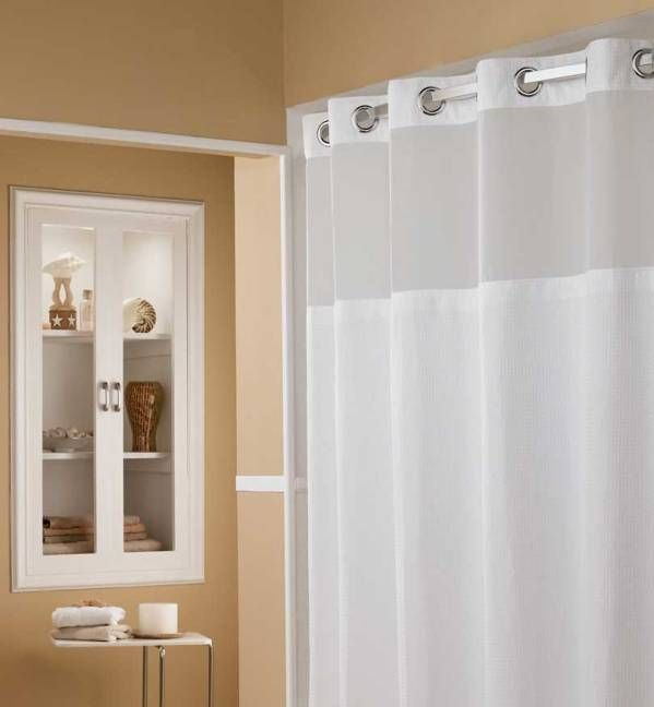Curtain, Awesome Hotel Shower Curtain Hookless Hotel Shower Curtain Marriott Hookless Shower Curtain And Brown Beige Painted Wall And Shelf Cabinet: stunning hotel shower curtain