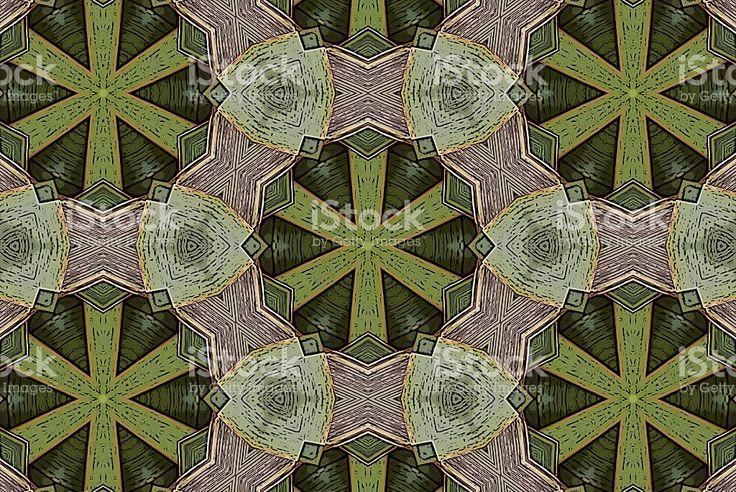 Harakeke Green Mandala Kaleidoscope Background Art royalty-free stock photo