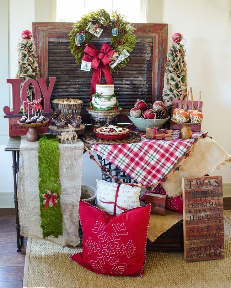 JOYful and Rustic Christmas Dessert Table