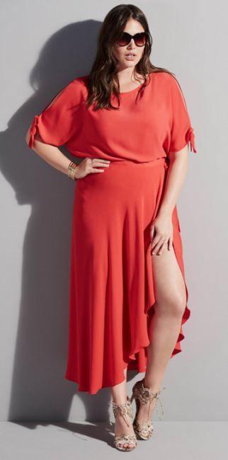 Летние вечерние платья 2016 для полных - фото