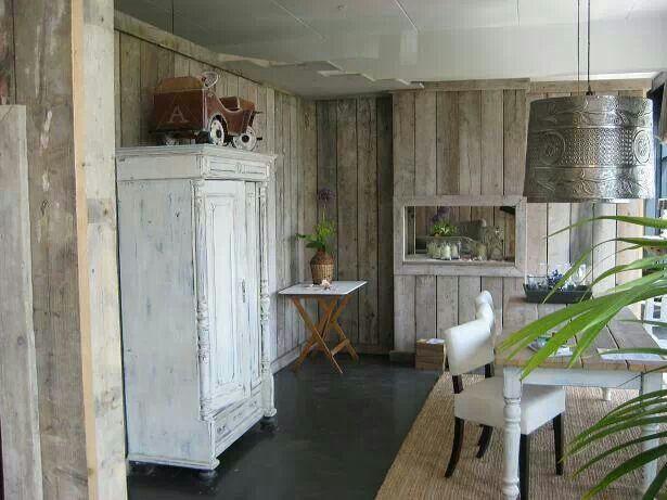 Steigerhout wand