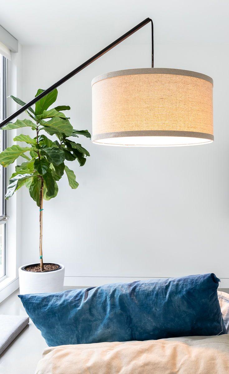 hudson living room led arc floor lamp for behind the couch rh pinterest com