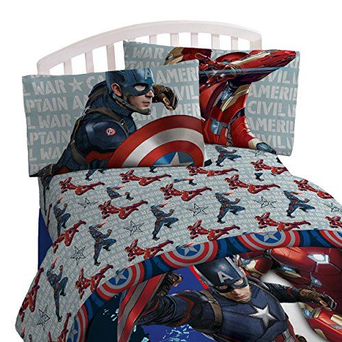 Captain America Civil War Lightning Twin Bed In A Bag