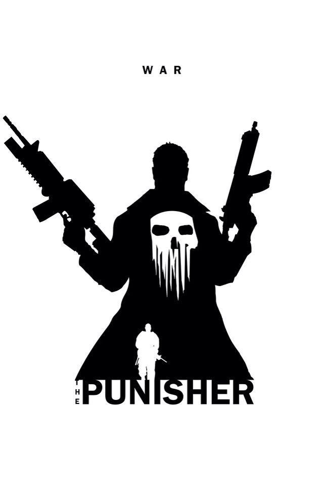 Superhero Silhouette: The Punisher