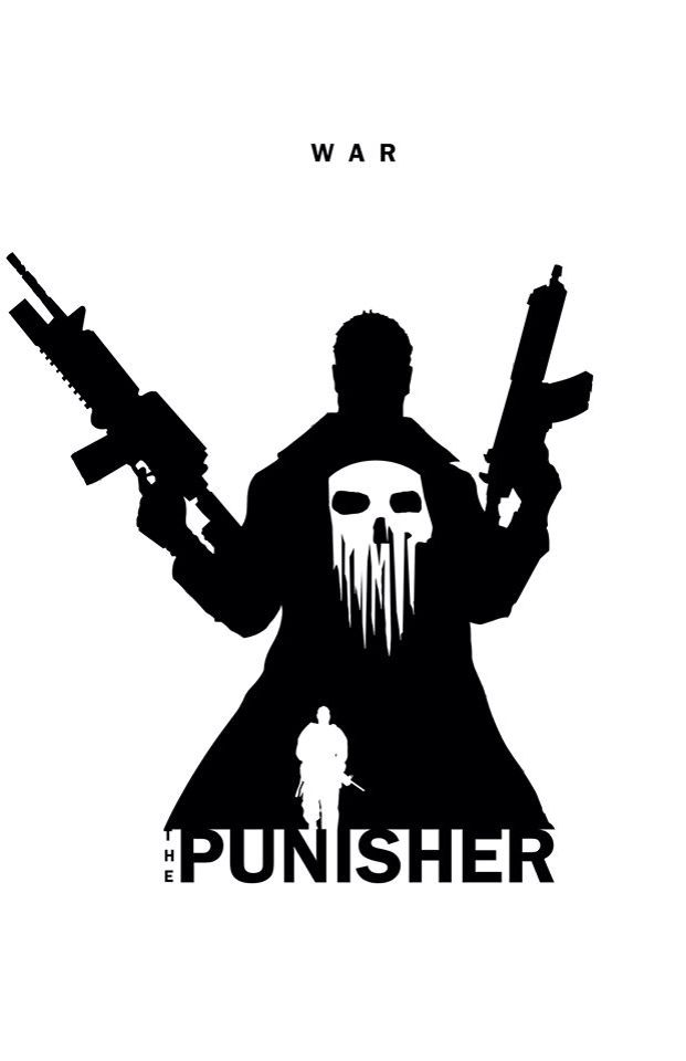Superhero Silhouette: The Punisher