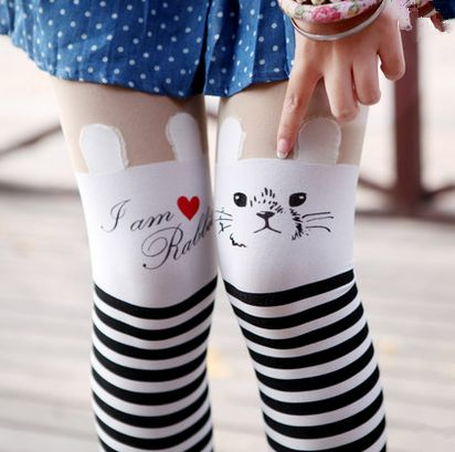 Japanese students cute striped pantyhose · Kawaii Clothing{Cute Sweet} · Online Store Powered by Storenvy