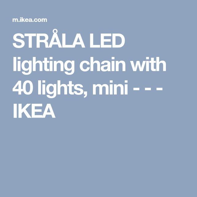 STRÅLA LED lighting chain with 40 lights, mini - - - IKEA