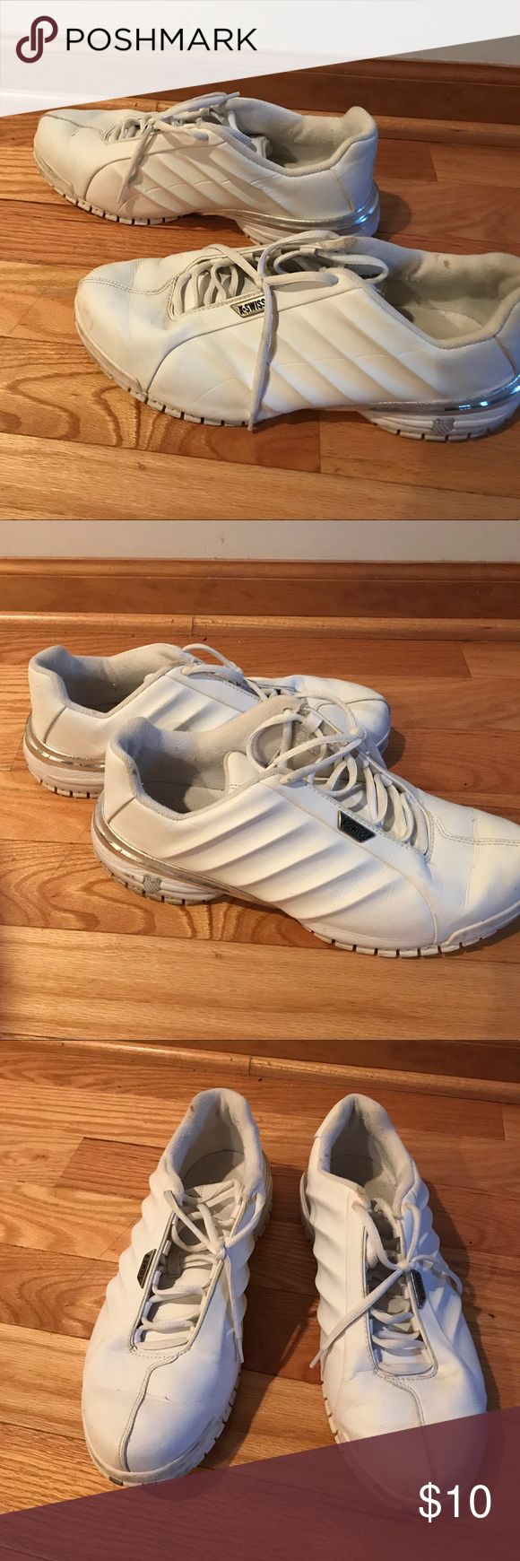 Men's Shoes Men's white KSwiss  size 12 hardly worn k swiss Shoes Sneakers