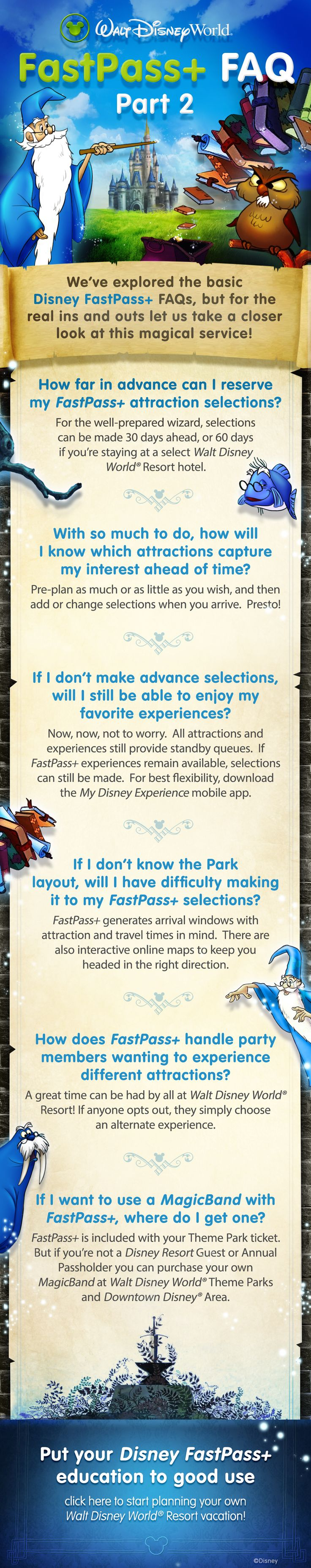 FastPass+ Frequently Asked Questions - Walt Disney World