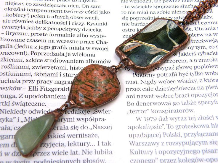 Long Necklaces – Pendant with chain: Mysterious copper garden – a unique product by Patrycja-Baran on DaWanda