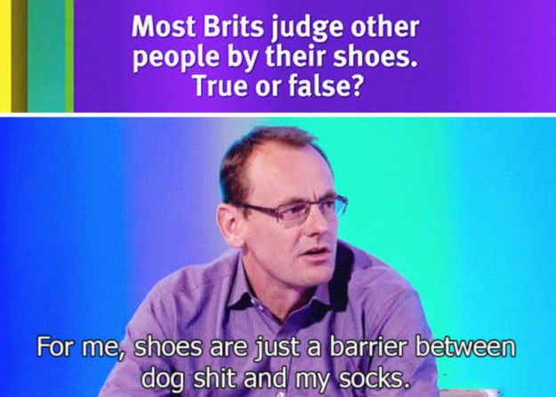 When he summed up shoes. | 19 Times Sean Lock Was The Most Absurdly Funny Man In Britain