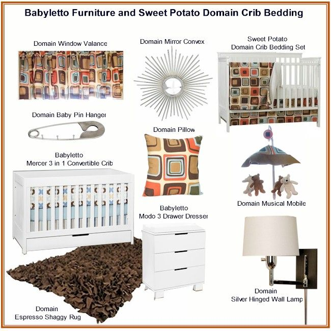 babyletto nursery furniture sweet potato domain crib bedding via