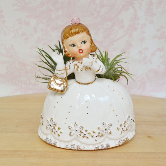 Vintage 1956 Woman with a Purse Planter by Napco
