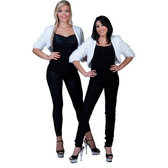 Kort wit pluche jasje voor dames  Wit bolero bontjasje voor dames. Zachte pluizige bolero in witte kleur. One size ongeveer maat M. Materiaal: 100% polyester.  EUR 19.95  Meer informatie