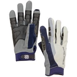 Women's Full-Finger Sailing Gloves, Navy/Gray