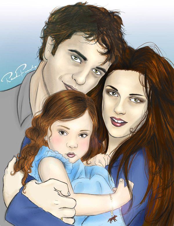 Edward Bella And Renesmee | Family Fanart - Edward,Bella ...  Edward Bella An...