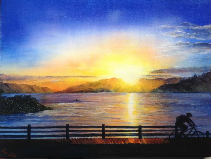 Wellington sunrise acrylic on canvas
