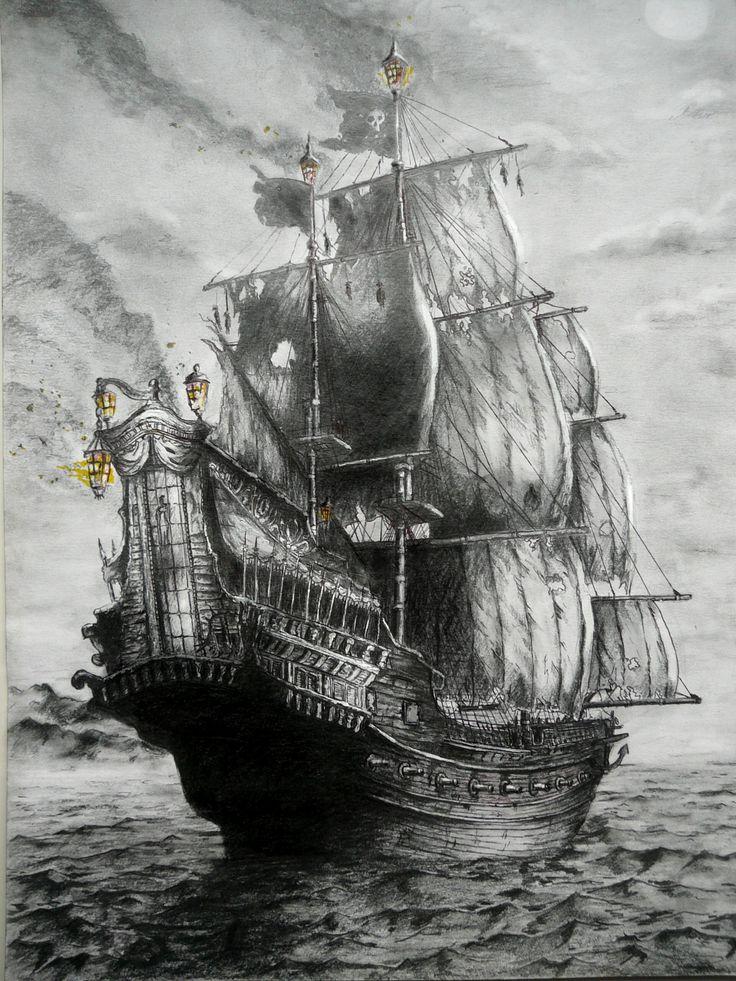 Queen Anne's Revenge by BluePaintArt on DeviantArt