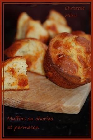 Muffins au chorizo et parmesan : la recette facile