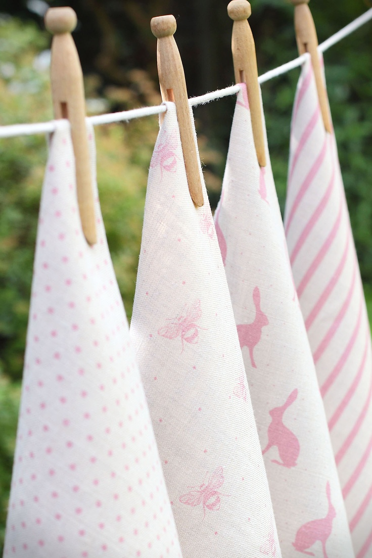 Blush Pink Collection  Dots, Bees, Hares & Breton by Peony and Sage