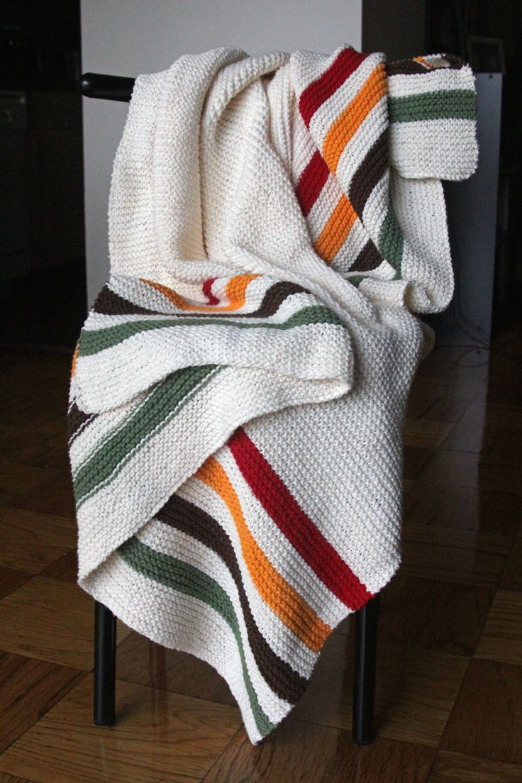 The Fuzzy Square: Nine Months with My Simple Striped Blanket