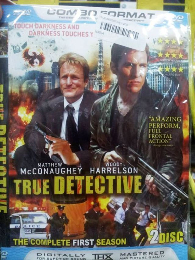This bootleg True Detective DVD cover is exploding with clues, explosions · Newswire · The A.V. Club