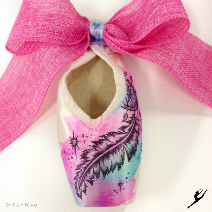 Energetiks Hand Decorated Dream Catcher Pointe Shoe by @ artelf   Energetiks