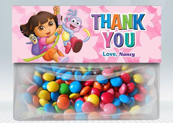 Dora The Explorer Favor Bag Toppers by DigiPartyShoppe on Etsy