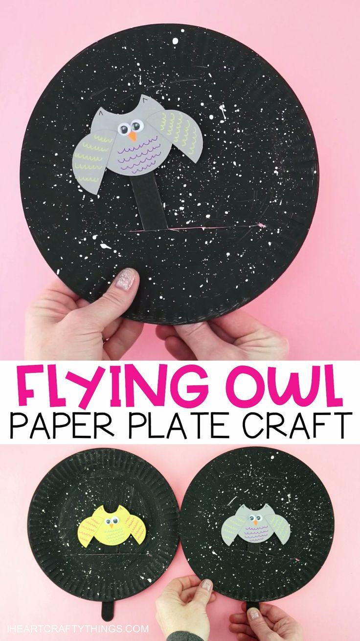 Fliegende Eule Pappteller Craft für Kinder ift.tt/2InJRBC