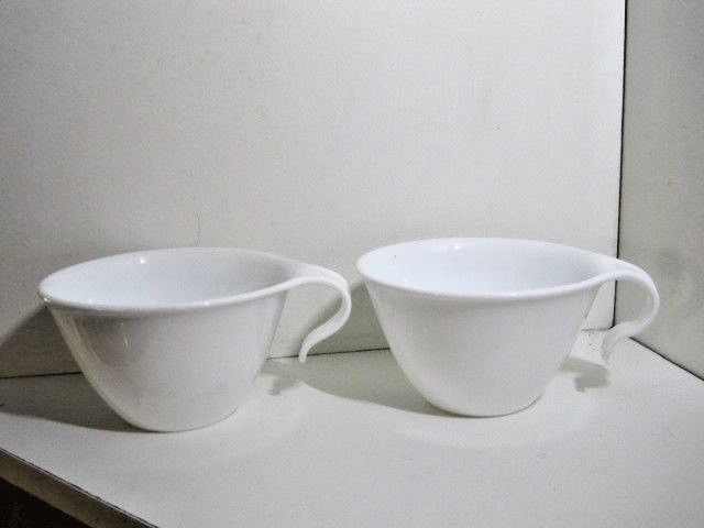 2 Corelle Winter Frost White Flat Coffee Cup Hook Handle Corning Usa Corelle Handle Hook Winter Frost Corelle