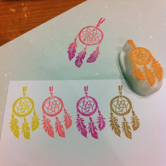 star dreamcatcher rubber stamp  star dreamcatcher by DeerdayShop
