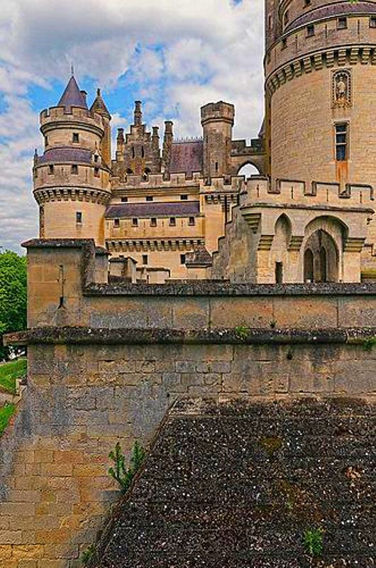 Chateau de Pierrefonds in Picardy, France
