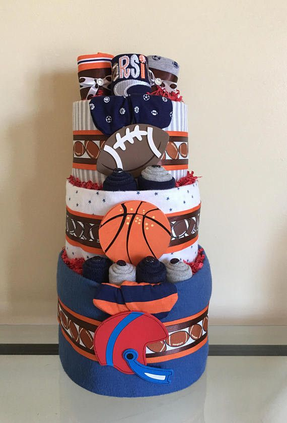 Football Sports Baby Boy Diaper Cake