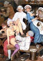 Banc de bois pour lits de plumes (fro Le journal de sartine) by Erich von Gotha (British, born 1924)