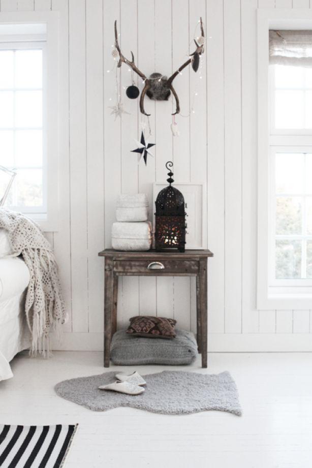 Een witte slaapkamer met kerst sfeer !!!