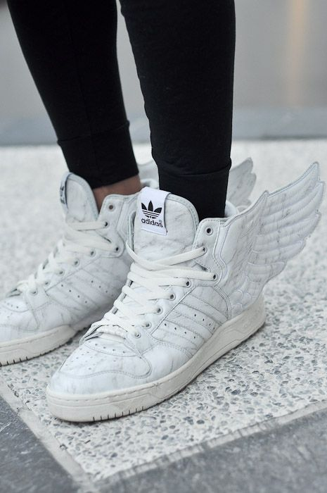 Jeremy Scott wings. The boys in the office say they're not cool. What do they know?