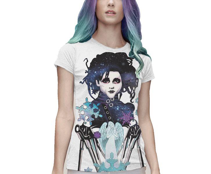 T-Shirt Donna Edward Mani di Forbice di fritlex-shop su DaWanda.com