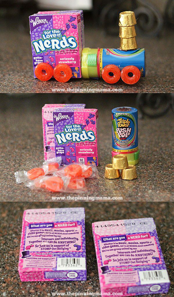 Making a candy train is quick and easy!  See all of the Train Party ideas here!