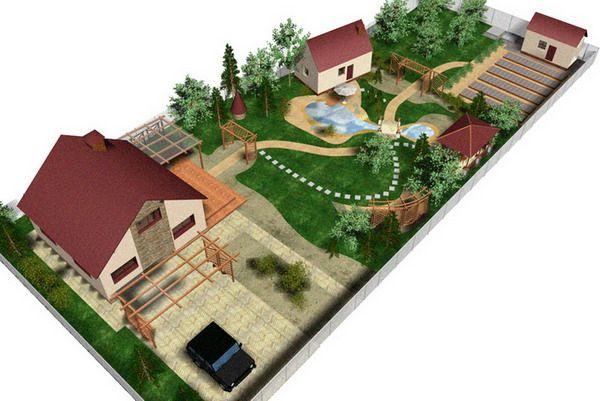 Ландшафтный дизайн проект участка в 15 соток: фото + идеи по планировке
